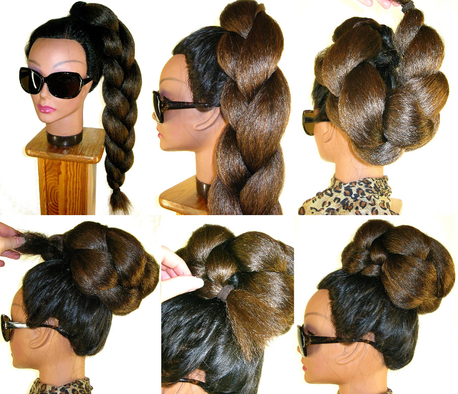 Pin up a braid - the most easy, natural and quickest bun solution!