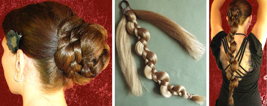 This neatly braided bun pattern is a simple elf braid hair piece!