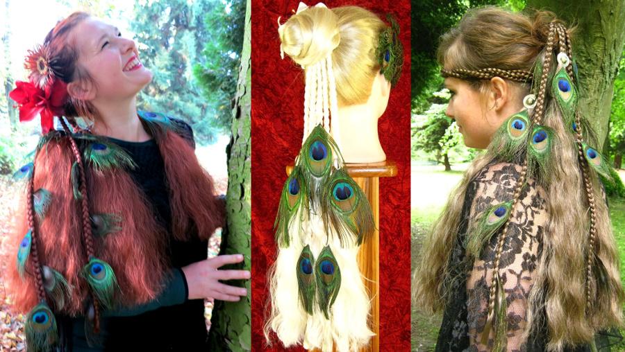 10 % Rabatt auf Magierin-Haarteile mit Pfauenfedern!