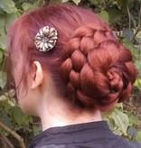 Chignon & Braid M, crimped hair