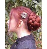 Twist Bun & Braid M, crimped hair