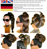 Topknot Bun & Braid S size, crimped hair
