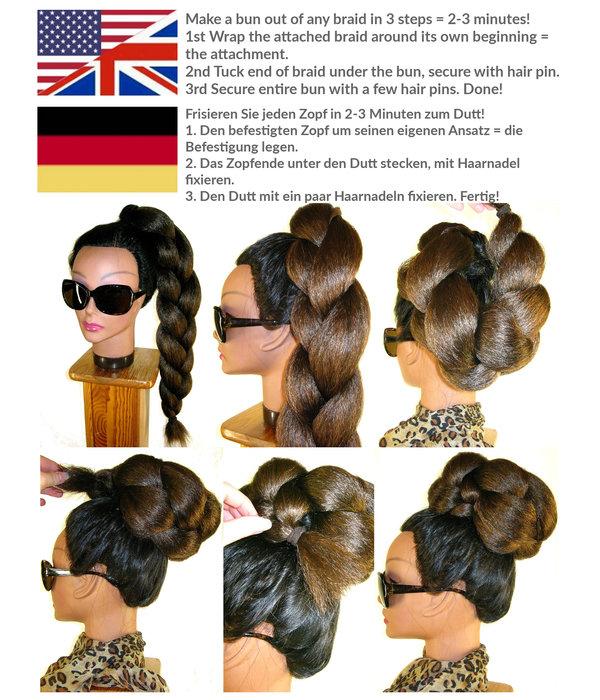 Afro Twist Bun L size, voluminous hair