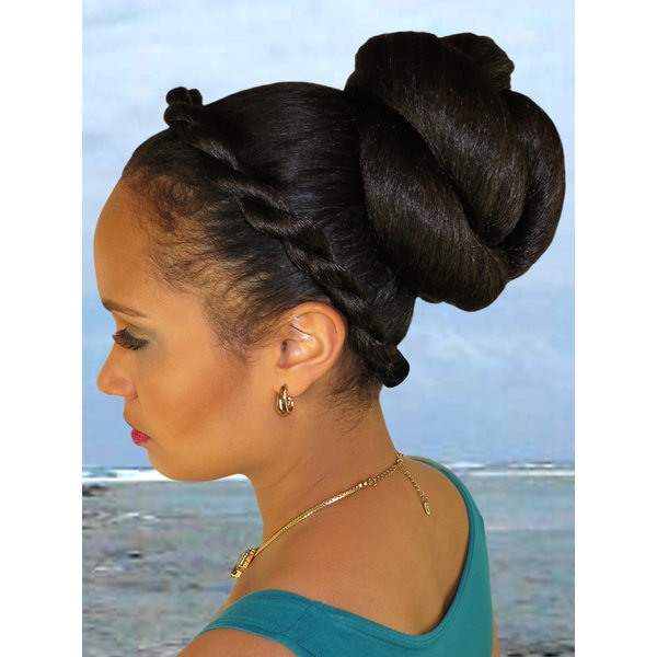 Afro Twist Bun L, voluminous hair