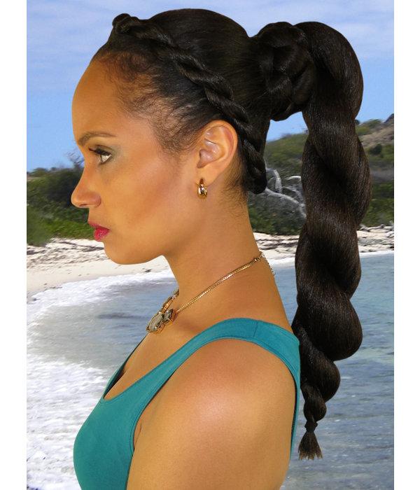 Afro Twist Dutt Größe L, gekrepptes Haar