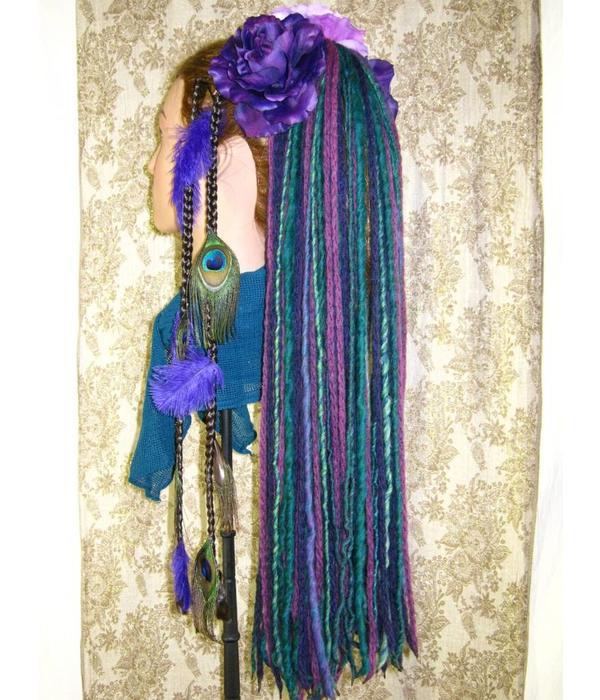 Dreadlocks Haarteil Purple Paradise