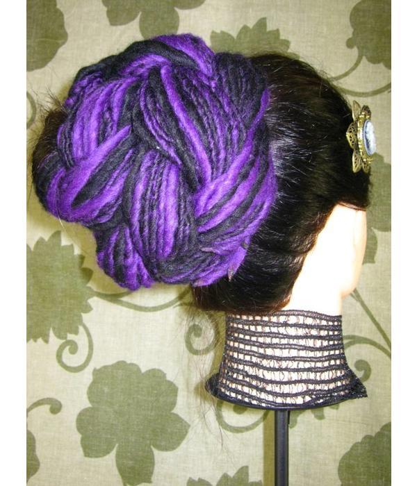 Purple Black Goth Dread Fall