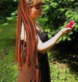 Dreadlocks Haarteil Henna Kastanie