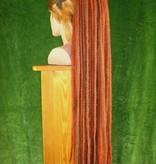 Dreadlocks Haarteil Henna Braun