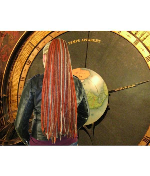 Dreadlocks Haarteil Steampunk Stripes