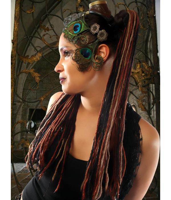 Haarteil Feine Steampunk Stripes Dreads