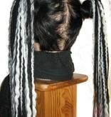 Schwarz Weiße Gothic Dreads