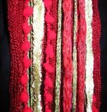Gürtel- & Haarschmuck Red Passion Gold (Pfau)