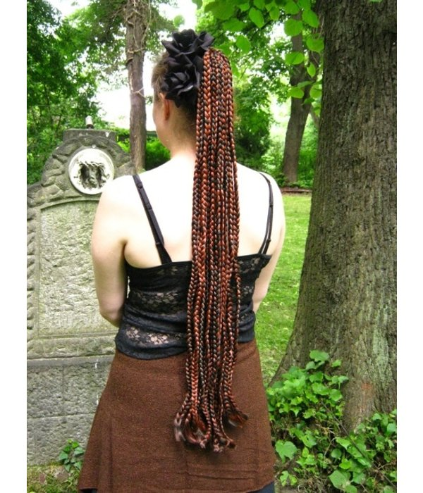 Voodoo Magierin Haarteil Rastazöpfe 85 cm