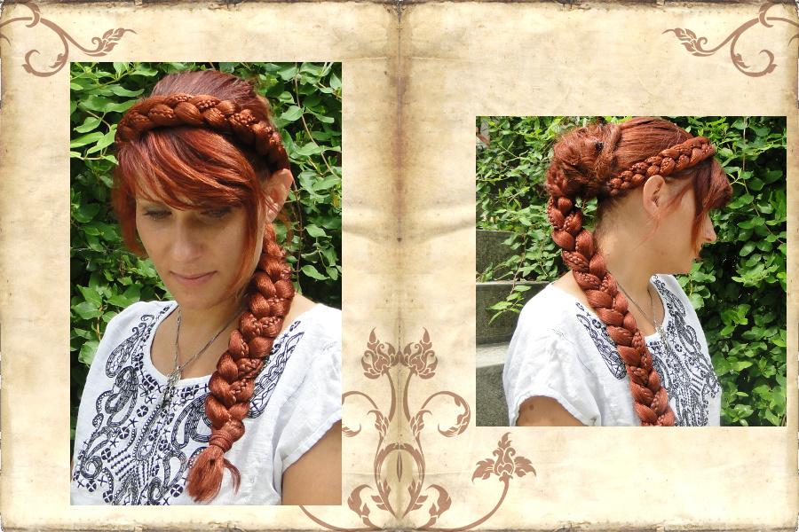 Rapunzel Haarband und Zopf mit besonderem Flechtmuster