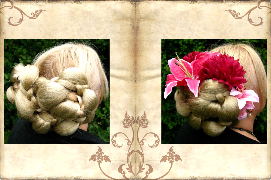 Aufwendige Flechtfrisur in wenigen Minuten mit Haarteilen als Helfer
