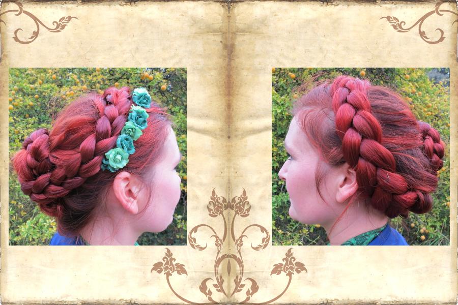 Zopfkrone mit Paranda Zopfwunder aus gewelltem Haar