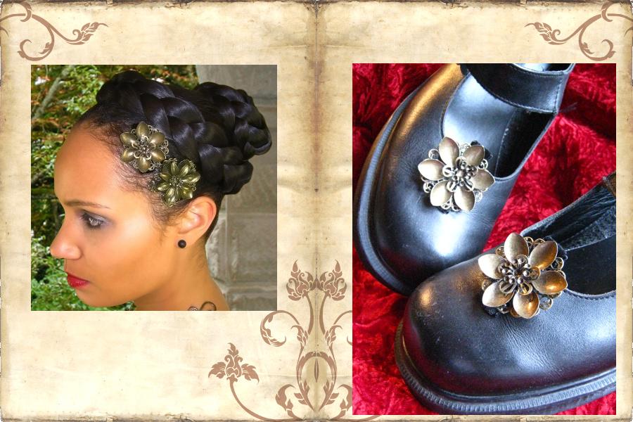 Steampunk Ballerinaschuhe gefällig? Einfach den passenden Haarschmuck befestigen!