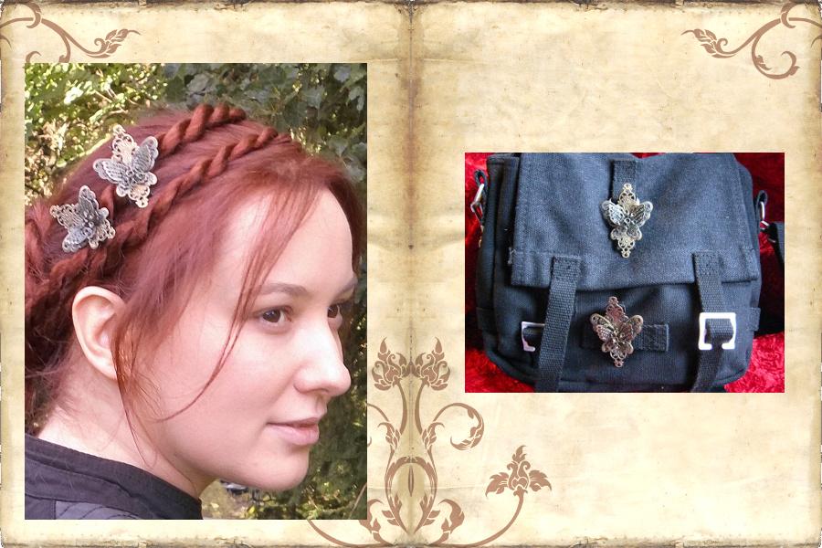 Steampunk Haarschmuck als Taschenclips!