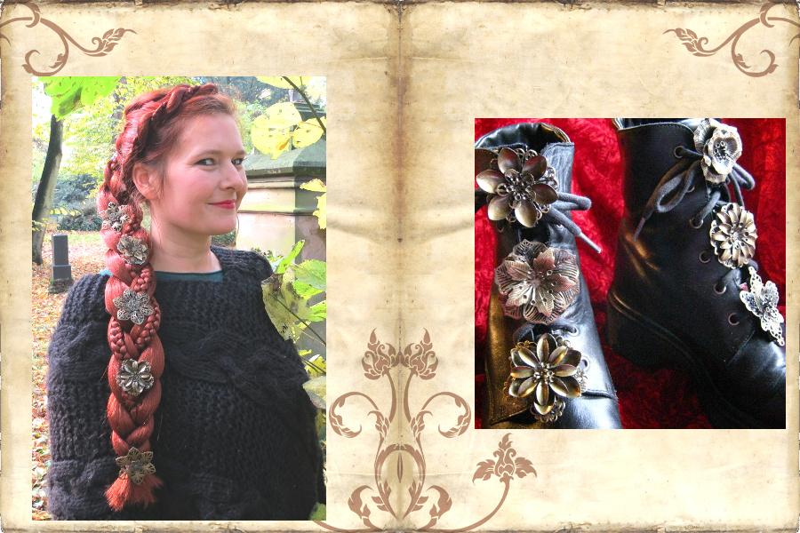 Bronzehaarblumen verwandeln Schnürstiefel in Steampunk Boots!
