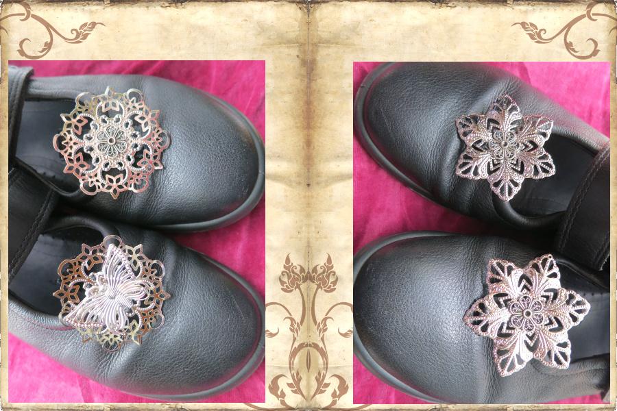Gothic Mary Janes zum edlen Gewand - ganz einfach gezaubert mit Silberhaarblumen!