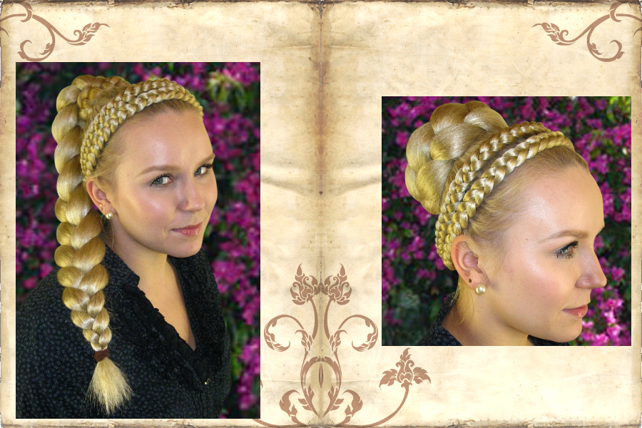 Braided headband and braid or hair bun as a perfect match!