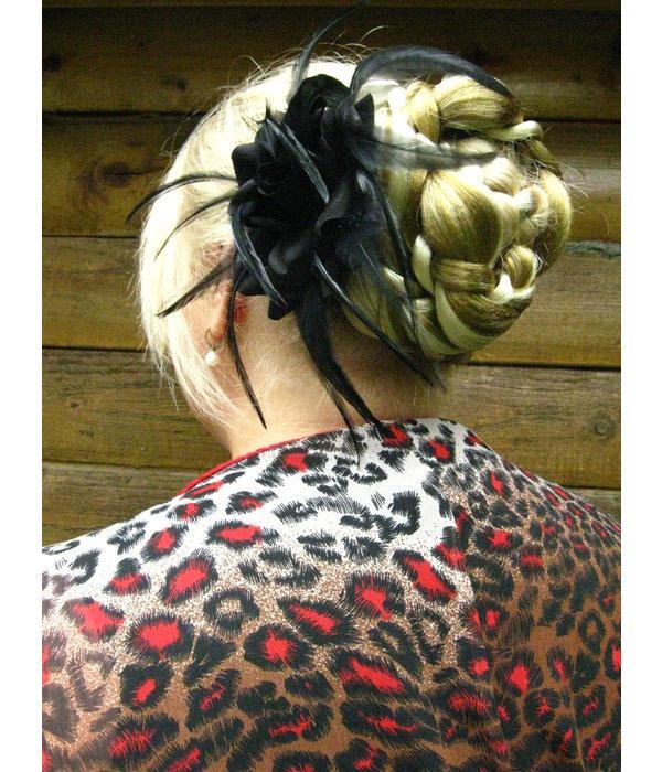 Flechtdutt Haarknoten Elfe große Ausführung