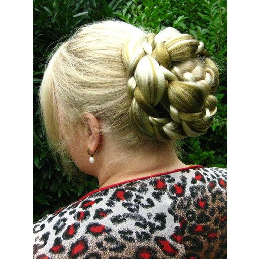 Flechtdutt Haarknoten Elfe groß