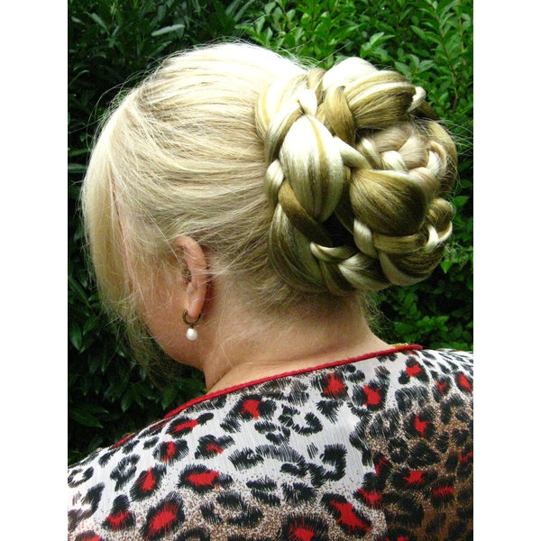 Braided Chignon Elf Topknot, big
