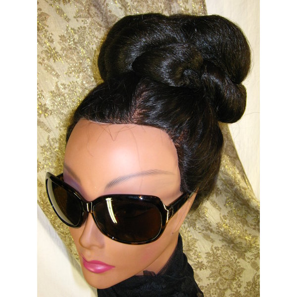 Supersize Afro Twist Hair Bun, voluminous hair