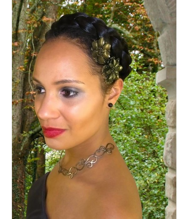 Halo Braid Hair Wreath, natural