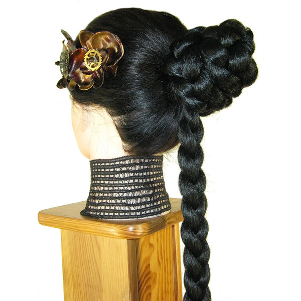 Princess Leia Ceremonial Bun with Braid, short
