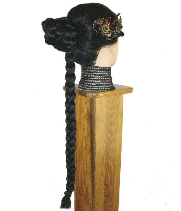 Prinzessin Leia Dutt mit Zopf, kurze Variante