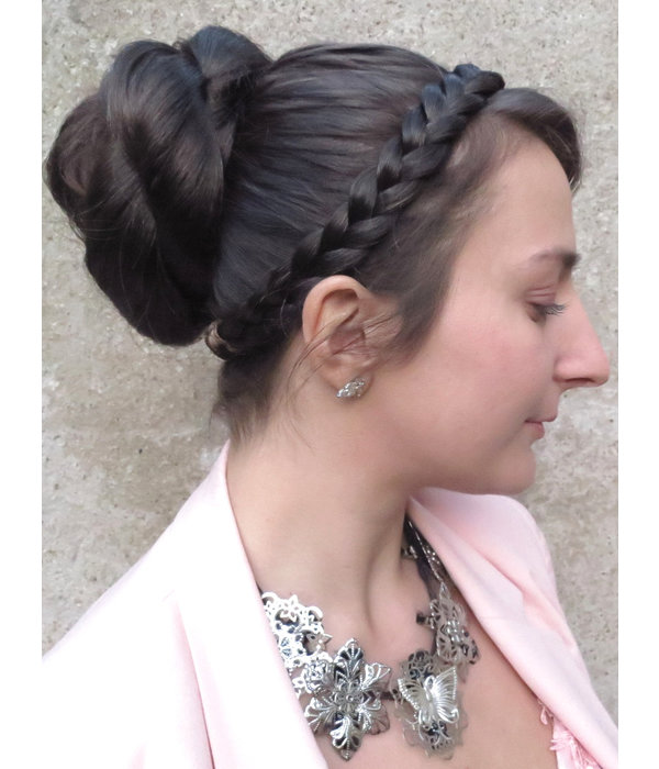 Haarband Boho Zopf flach geflochten