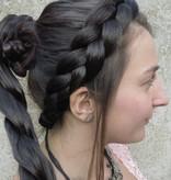 Boho Haarband, flach & breit geflochten