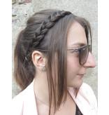 Haarband Zopf flach geflochten