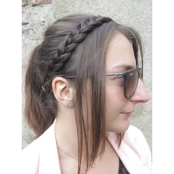 French Braid Headband thin, flat braid