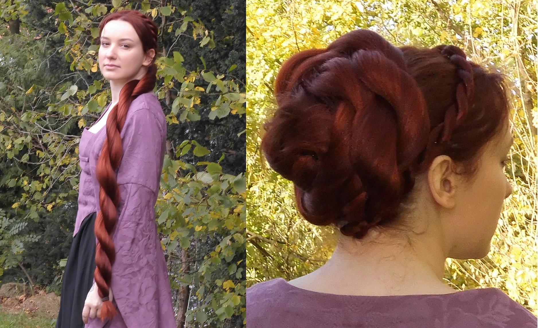 Vielfrisuren-Haarteile - Twist-Zopf und Dutt