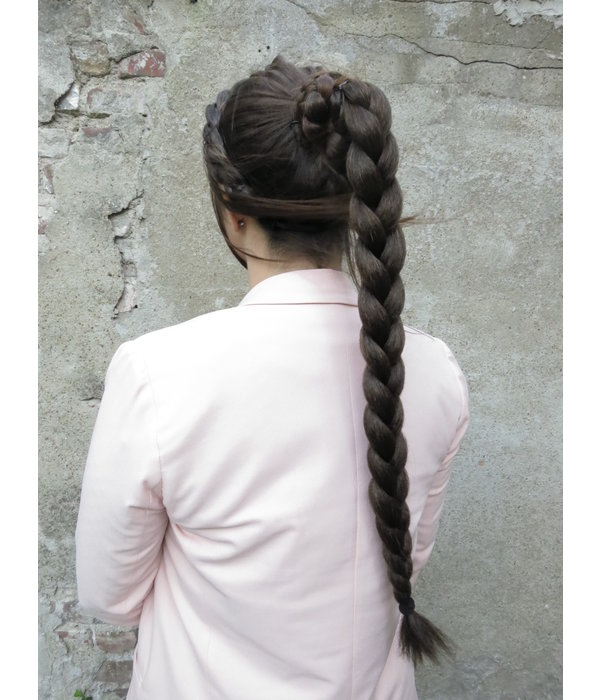 Twist Braid & Bun S size, dark brown/copper