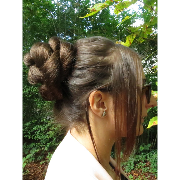Twist Chignon S size, crimped hair