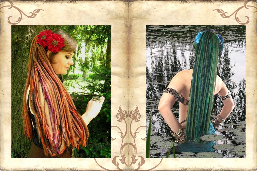 Dreadlocks Klassiker mit Haarblumen