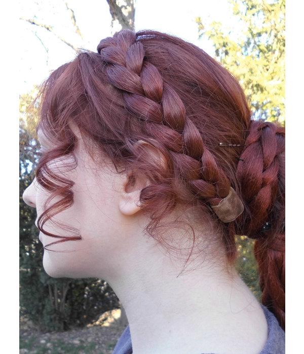 Klassisches Haarband dicker Zopf, geflochten