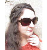 Messy French Braid Headband, thin & wide