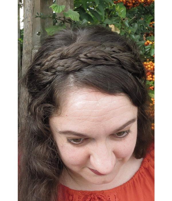 Rapunzel Zopf Haarband breit, messy Look