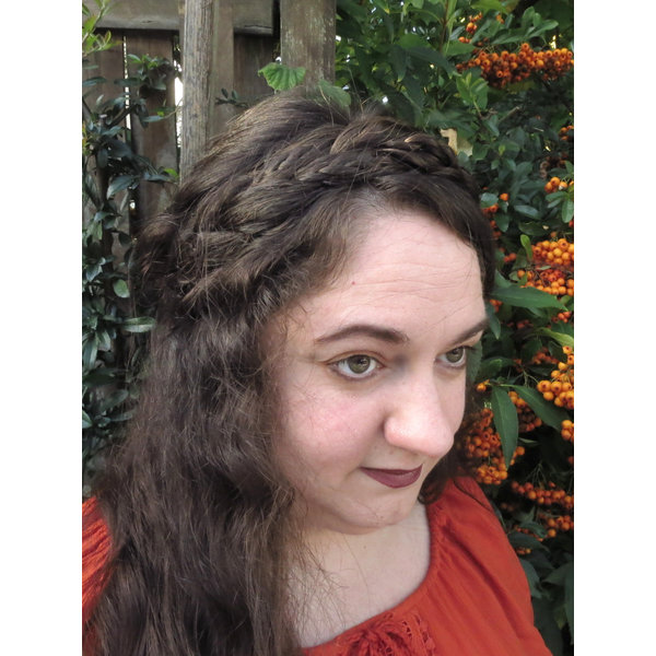 Rapunzel Braid Headband wide, messy look