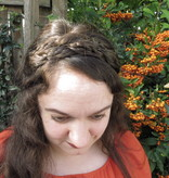 Rapunzel Braid Headband wide, messy look