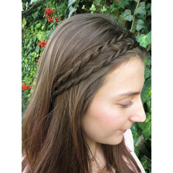 Haarband doppelter Kordelzopf, extra dünn