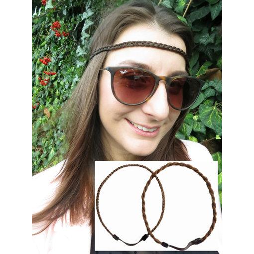 2 x Zopfhaarband, Stirnband Set
