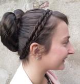 Double Braid Headband, twisted & extra thin