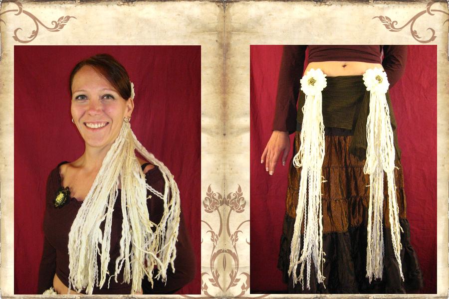 Vintage Belly Dance & Tribal Fusion Haarteil und Accessoire Set
